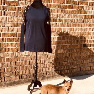 💫SEXY NAVY SHEER BACK BLOUSE 💫NWT 🍋🔥FITS S/M🔥